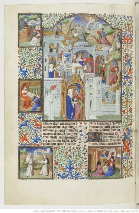Maitre de Bedford (atelier), 1424-1435, Breviaire de Salisbury, pour le duc de Bedford BNF Lat 17294 fol 386v Histoire de Joachim et Anne gallica