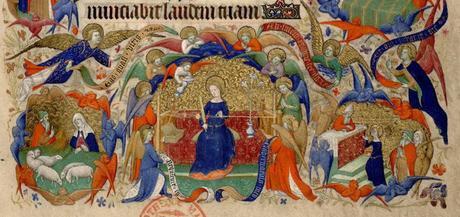 1410-1415 Maitre de la Mazarine Annonciation Heures Mazarine, Mazarine MS 469 fol 13 detail