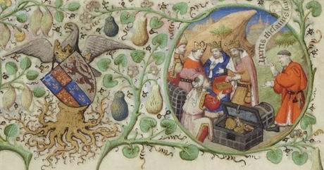 Maitre de Bedford, 1424-1435, Breviaire de Salisbury, pour le duc de Bedford BNF Lat 17294 fol 106r Adoration des Mages gallica detail