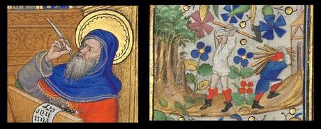 Heures de Marguerite d'Orleans 1430 ca BNF Latin 1156B fol 15r Gallica detail matthieu