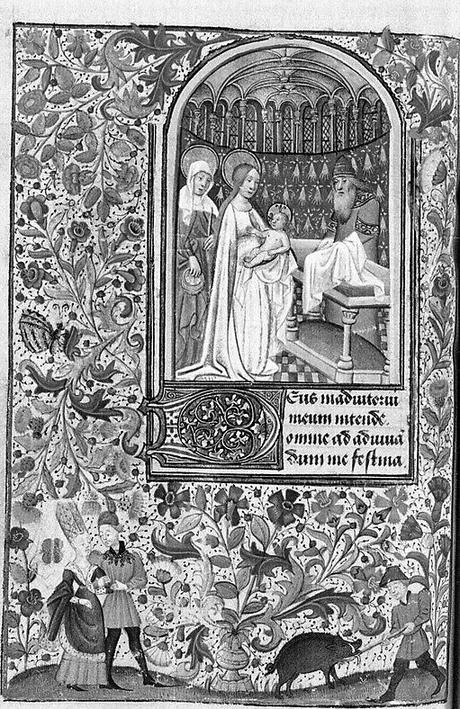 Heures de Pierre II (Paris, BnF. ms. lat. 1159 vue 71