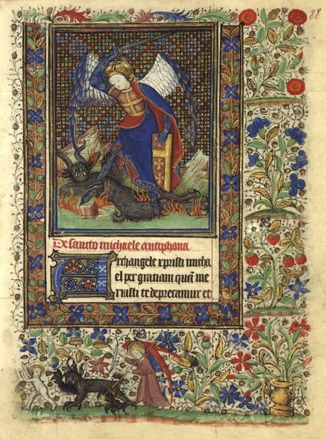 Heures de Catherine de Rohan et de Francoise de Dinan Rennes, BM, 0034 fol 88 Saint Michel