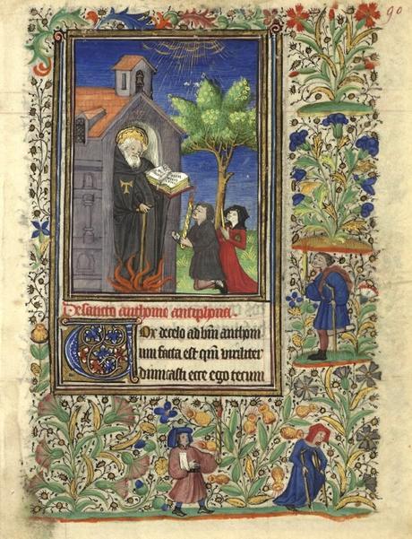 Heures de Catherine de Rohan et de Francoise de Dinan Rennes, BM, 0034 fol 90 Saint Antoine