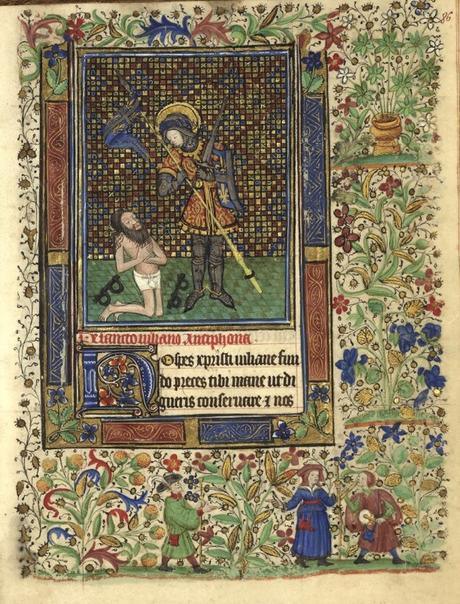 Heures de Catherine de Rohan et de Francoise de Dinan Rennes, BM, 0034 fol 86 Saint Julien