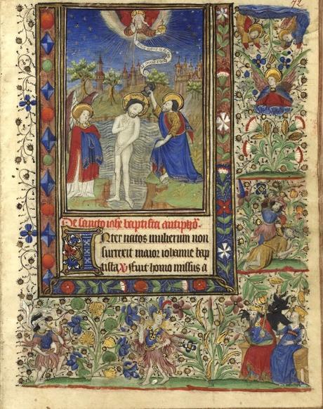 Heures de Catherine de Rohan et de Francoise de Dinan Rennes, BM, 0034 fol 0066 Bapteme du Christ