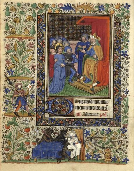 Heures de Catherine de Rohan et de Francoise de Dinan Rennes, BM, 0034 fol 0011v Le Christ devant Herode