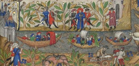 Heures de Marguerite d'Orleans 1430 ca BNF Latin 1156B fol 174r Gallica detail barques