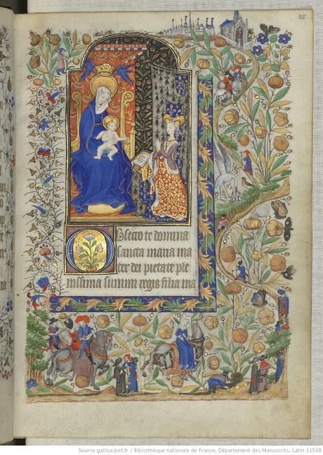 Heures de Marguerite d'Orleans 1430 ca BNF Latin 1156B fol 25r Gallica