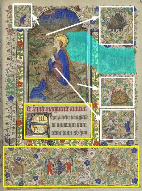 Heures de Marguerite d'Orleans 1430 ca BNF Latin 1156B fol 176r Gallica schema