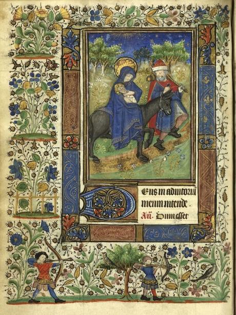 Heures de Catherine de Rohan et de Francoise de Dinan Rennes, BM, 0034 bis fol 071v Fuite en Egypte