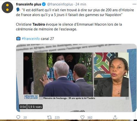 Silence assourdissant de Macron sur la mémoire de l' #esclavage…