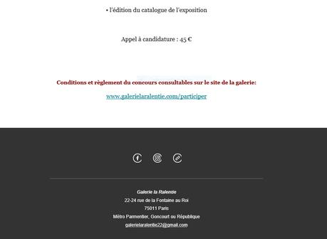 Galerie La Ralentie « Appel à candidature »