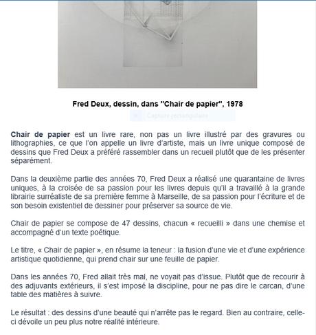 Galerie Alain Margaron « Le temps du regard » Chair de papier