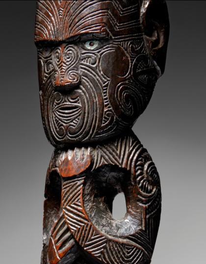 Maori-post-figure