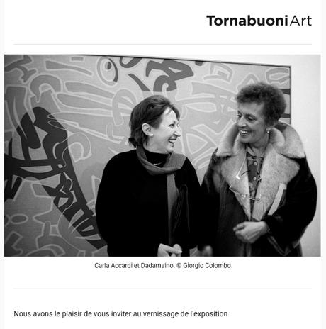 Galerie TornabuoniArt -exposition Carla Accardi et Dadamaino  le 20 Mai 2021