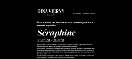 Galerie Dina Vierny « Séraphine » exposition 25/05/21 au 31/07/2021