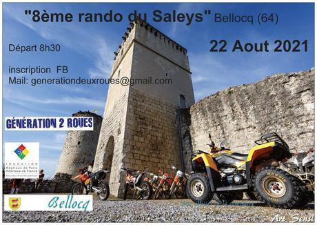 8ème rando du Saleys le Dimanche 22 Août 2021, Bellocq (64) - moto quad.