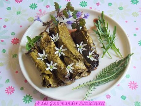 Rouleaux d'oseille à l'origan (Vegan)