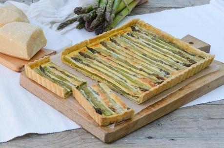 Tarte aux asperges et au parmesan