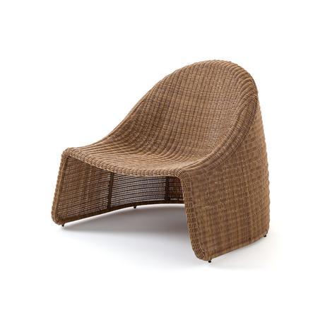 fauteuil de jardin plastique recyclé façon résine tressée écolo
