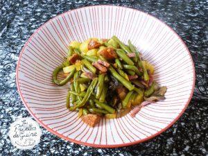 Poêlée de légumes chorizo lardons