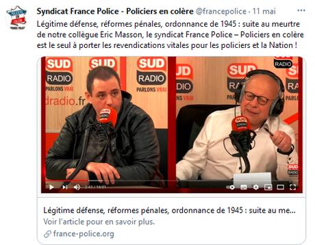 le secrétaire national de #FrancePolice candidat du RN aux #departementales2021. Instructif mélange des genres… #acab X2