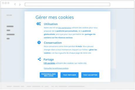 Bandeau Cookies recommandé par la CNIL