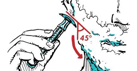 illustration d'un rasage avec rasoir de sûreté