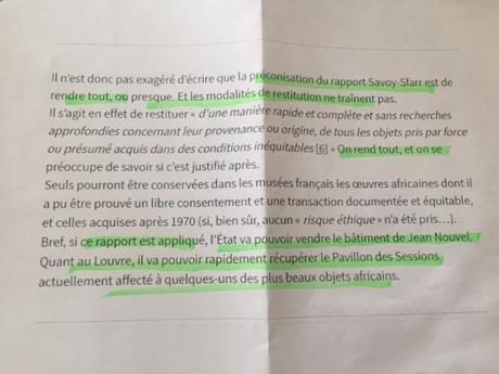 des disparitions organisées au Musée du Quai Branly Jacques Chirac…..