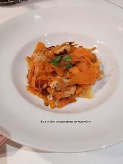Tagliatelle de carottes à la dinde