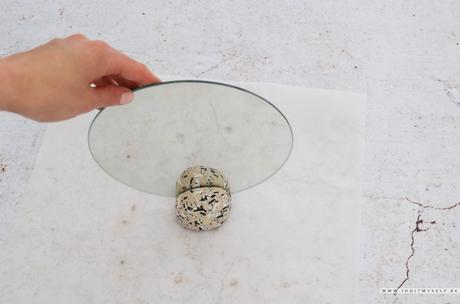 DIY : Socle miroir moucheté