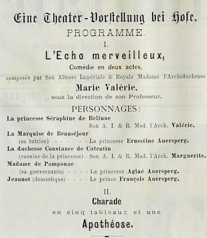 L'archiduchesse Marie Valérie, jeune autrice et actrice