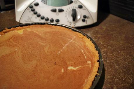 recette du jour: Tarte chocolat caramel au beurre salé  au thermomix de Vorwerk