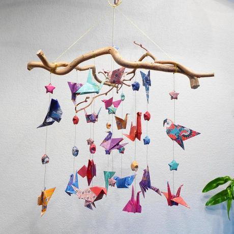 origami dans la déco mobile chambre bébé nourrisson - blog - clematc