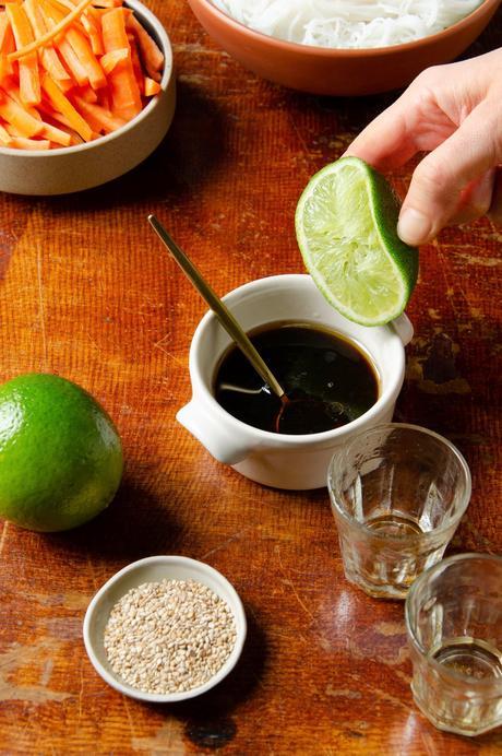 recette sauce asiatique vegan nems rouleaux