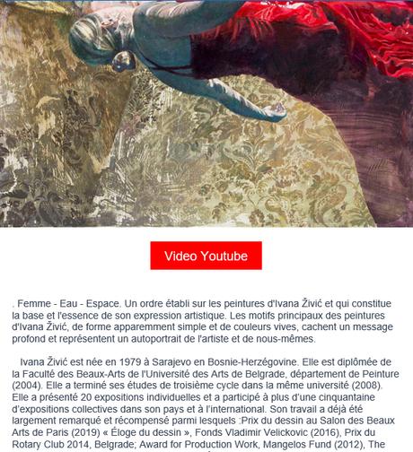 Galerie BORIS exposition Ivana Zivic -Somniat Libertas  6 Avril au 31 Juillet 2021