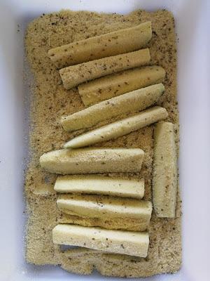 Bâtonnets de courgette panée