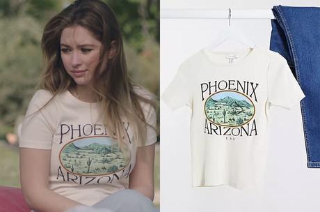 """ICI TOUT COMMENCE : le t-shirt """"Phoenix"""" de Charlène dans l'épisode 155."""