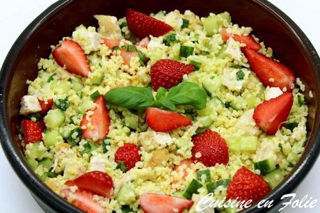 Taboulé de millet aux fraises