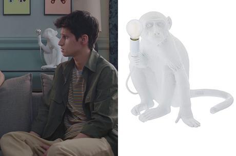 DEMAIN NOUS APPARTIENT : la lampe singe dans l'appart de Bart