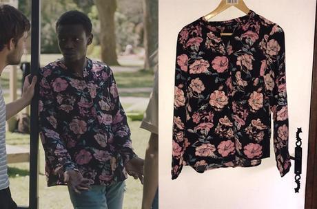 ICI TOUT COMMENCE : la blouse à fleurs d'Enzo dans l'épisode 156