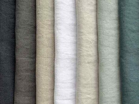 tissu en lin de différentes couleurs