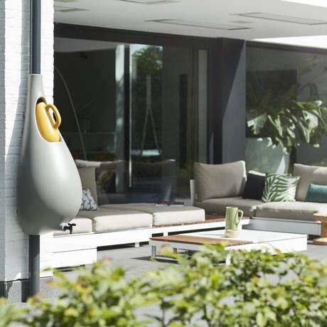 balcon écolo beau récupérateur eau pluie forme goutte design