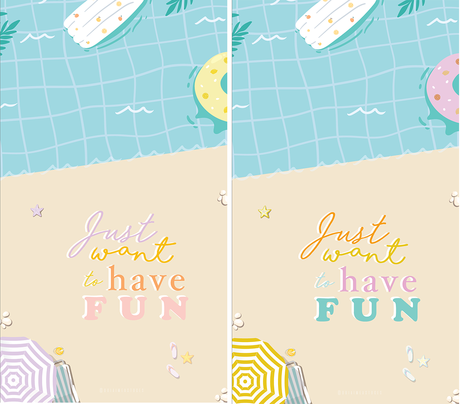 FONDS D'ÉCRAN #35 — Just want to have fun !