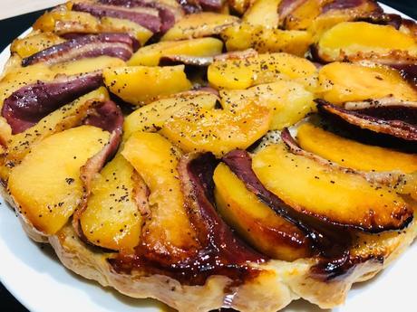 Tatin aux pommes et magret de canard