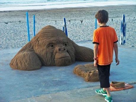 Divers - travail sur sable