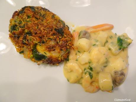 Galette  de courgettes et carottes