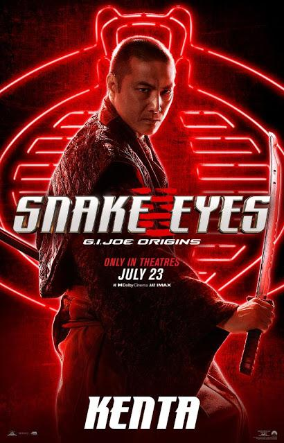 Affiches personnages US pour Snake Eyes de Robert Schwentke