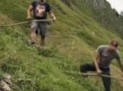 fauche acrobatique montagne (vidéo)