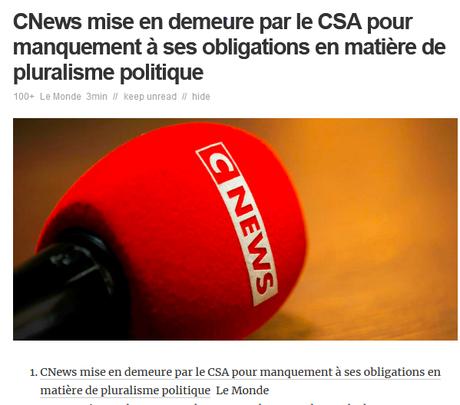 #CNews, chaîne officielle de la propagande du RN, qui en doutait encore ? #Elections2021